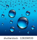water drops blue  vector...