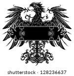heraldic eagle holding a...