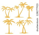 Vector Palm Tree Contours...