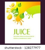 juice fruit liquid drops splash ... | Shutterstock .eps vector #128277977