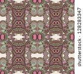 geometry vintage floral... | Shutterstock .eps vector #128283347