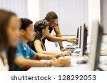 african american college...   Shutterstock . vector #128292053