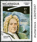 nicaragua   circa 1985  a stamp ...   Shutterstock . vector #128295347