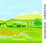 eco farming   landscapes | Shutterstock .eps vector #128301533