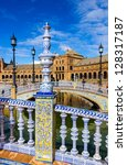 ceramic fence in plaza de...   Shutterstock . vector #128317187
