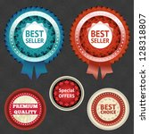 best seller and choice labels... | Shutterstock .eps vector #128318807