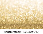 gold defocused glitter... | Shutterstock . vector #128325047