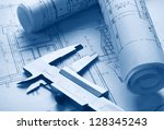 the part of architectural... | Shutterstock . vector #128345243