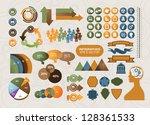 huge infographic element set.... | Shutterstock .eps vector #128361533