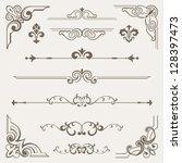 vintage ornament design element | Shutterstock .eps vector #128397473