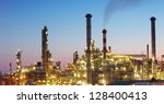 oil and gas refinery at... | Shutterstock . vector #128400413