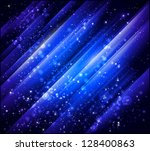 abstract blue vector background - stock vector