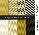 chevron patterns in black  gold ... | Shutterstock .eps vector #128431463