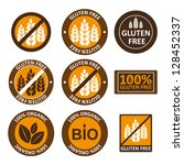 huge collection gluten free bio ... | Shutterstock .eps vector #128452337