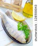 raw fish | Shutterstock . vector #128500043