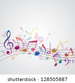 Vector Music Background With...