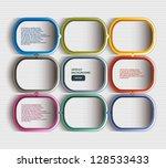 text box vector   frame vector  ... | Shutterstock .eps vector #128533433