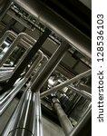 industrial zone  steel... | Shutterstock . vector #128536103