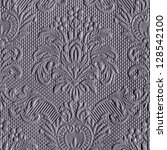 victorian grey pattern - stock photo