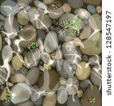 Vector Pebbles On The Bottom O...