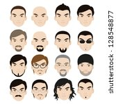 human faces with different... | Shutterstock .eps vector #128548877