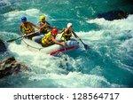 soca river  slovenia   july 8 ... | Shutterstock . vector #128564717