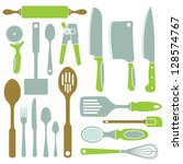 a vector collection of simple... | Shutterstock .eps vector #128574767