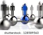 3d stainless human social...   Shutterstock . vector #128589563