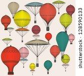 vintage  seamless pattern of... | Shutterstock . vector #128590133