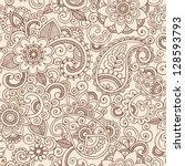 henna mehndi tattoo doodles...   Shutterstock .eps vector #128593793
