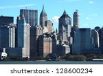 New York City Manhattan cityscape - stock photo