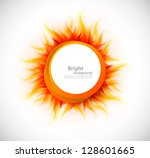Circle with flame - stock vector