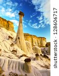 Hoodoo stone formation near Page, Arizona, USA - stock photo