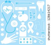 medical set. rasterized version.... | Shutterstock . vector #128614217