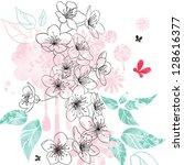 color sketch vesennihe colors... | Shutterstock .eps vector #128616377