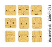 Sim Cards Set With Various Fac...