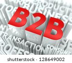 Concept Featuring Business to Business Terms. B2B Word Cloud Concept. - stock photo