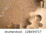 ginger cookies dough with... | Shutterstock . vector #128654717