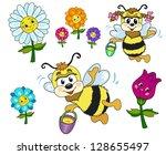 set of children's pictures. bee ... | Shutterstock .eps vector #128655497