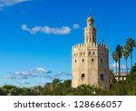golden tower  torre del oro ... | Shutterstock . vector #128666057