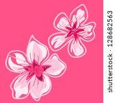 spring cherry blossoms vector...   Shutterstock .eps vector #128682563