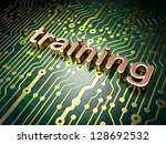 Education concept: circuit board with word Training, 3d render - stock photo