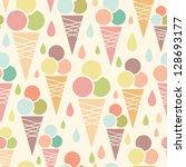 Ice Cream Cones Seamless...