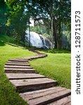 nice s shape walkway to... | Shutterstock . vector #128711573