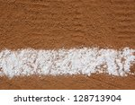 Baseball Infield Chalk Line with room for copy and for Sports Background - stock photo