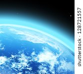 """blue  planet earth  in space. """"...   Shutterstock . vector #128721557"""