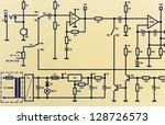 part of an electronic circuit... | Shutterstock . vector #128726573