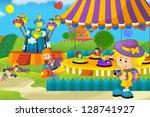 the funfair   illustration for... | Shutterstock . vector #128741927