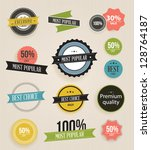 vector illustration. collection ... | Shutterstock .eps vector #128764187
