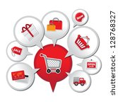 internet and online shopping...   Shutterstock . vector #128768327